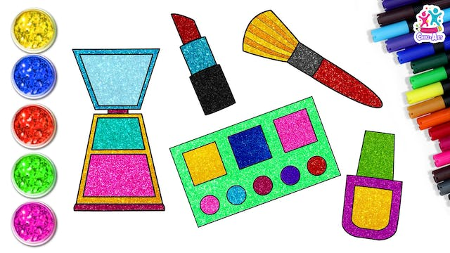 How To Draw A Makeup Kit