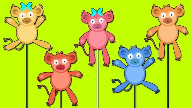 Five Little Monkeys - Puppets Version