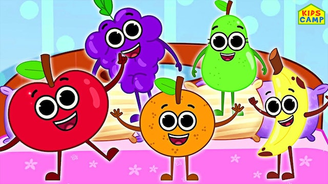 KidsCamp - Five Cute Fruits Jumping On The Bed
