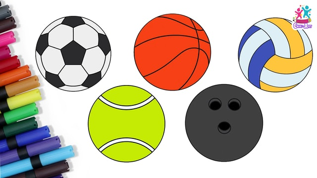 How To Draw Sports Balls