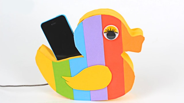 Rainbow Phone Duck Holder