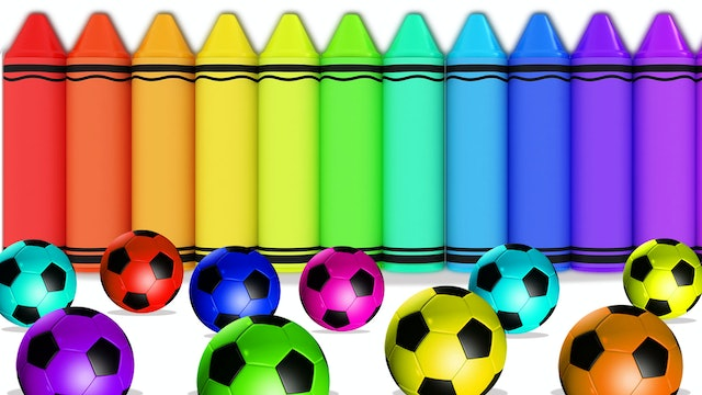 Colors with Crayons and Soccer Balls