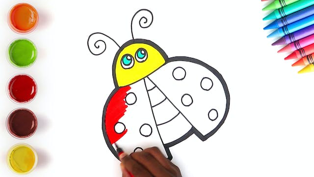 How to Draw & Color A LadyBug