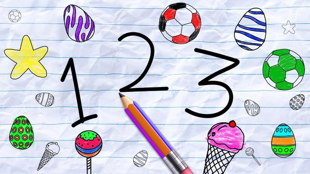 Learn Numbers with Pencil Animation