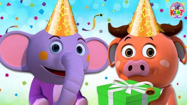 Kent the Elephant - Learn Colors With Cake