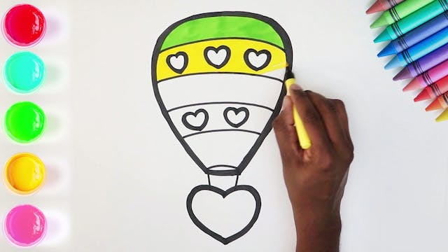 How to Draw & Color A Hot Air Balloon