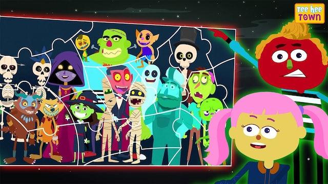 Teehee Town - Scary Halloween jig saw puzzle