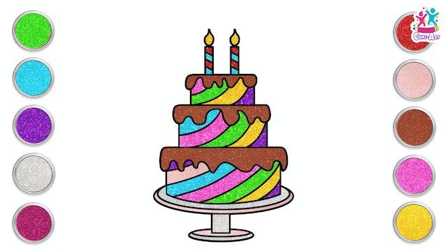 How To Draw A Birthday Cake