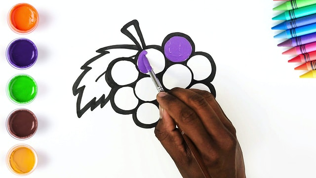 How to Draw & Color Grapes