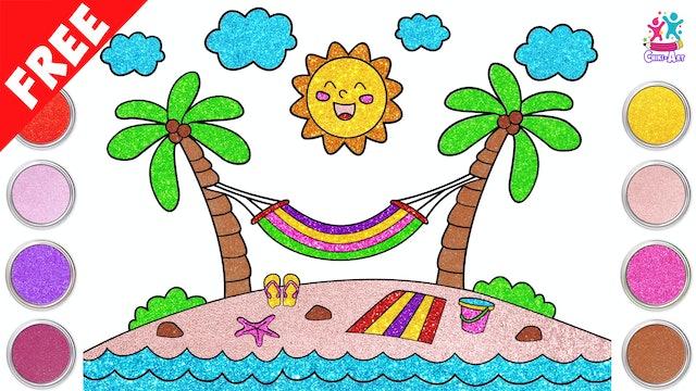 Chiki Art - How to Draw A Beach