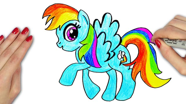 How To Draw Rainbow Dash from My Litt...