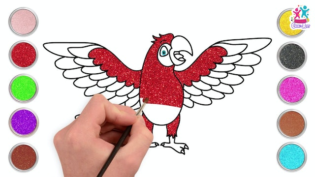 Chiki Art - How to Draw A Colorful Parrot