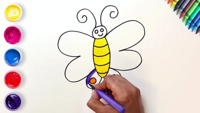 How to Draw & Color A Butterfly