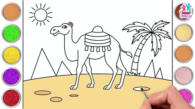 Chiki Art - How to Draw A Desert