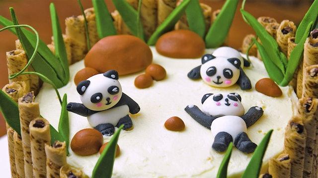 Bamboo Panda Cake