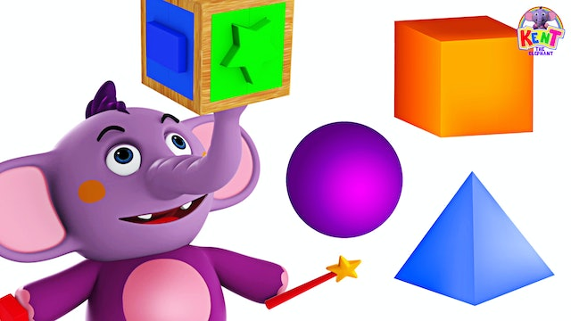 Kent The Elephant -  Learn shapes with the puzzle cube