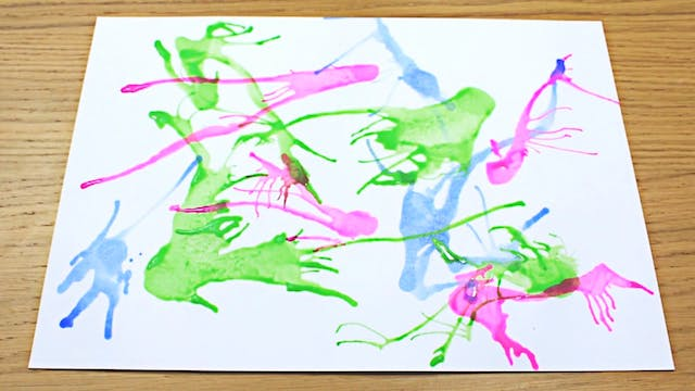 Straw Blow Painting