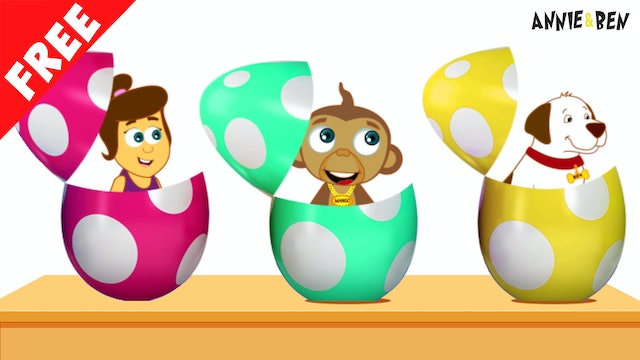 Annie And Ben - Learn Colors With Surprise Eggs Toys And Water Slides