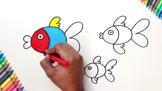 How to Draw & Color A Fish
