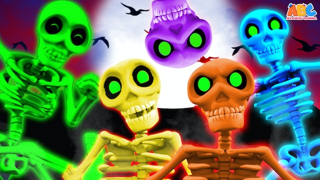 All Babies Channel - 5 Skeletons Went Out One Day