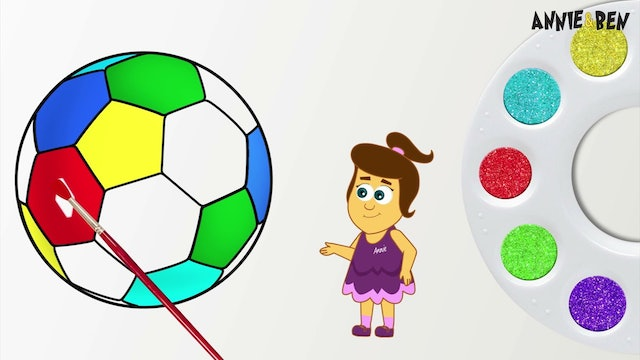 Annie And Ben - Soccer Ball Painting
