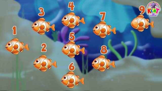 Kent The Elephant - Counting Sea Animals With Kent