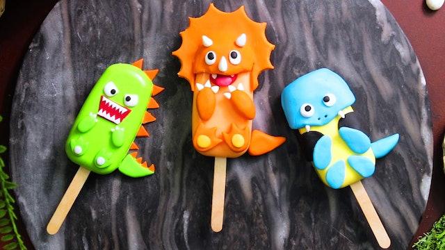 Dinosaur Design Cake Pops
