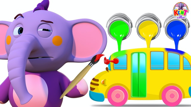 Kent the Elephant -  Wheels on the Bus Painting with Kent