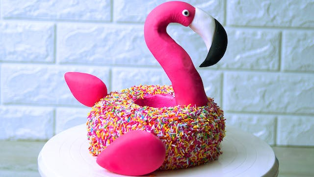 Flamingo Floating Cake