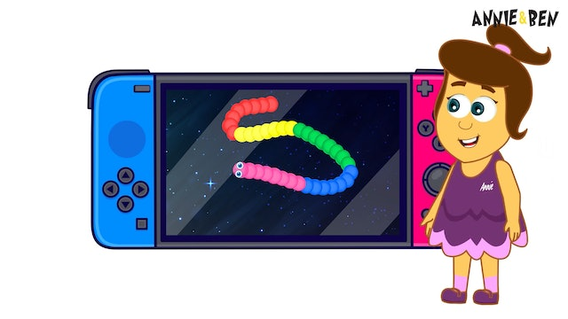 Annie & Ben - Slither Snake Eating Game And Colors