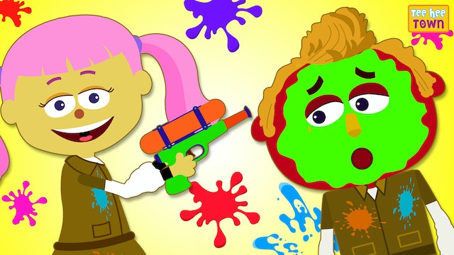 Learn Colors with Paintball Game