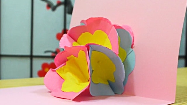 3D Flower Pop up Greeting Card