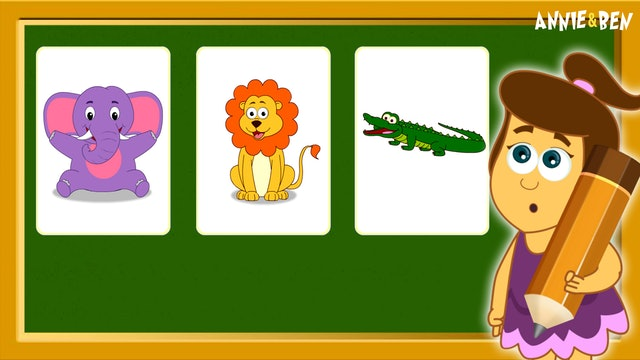 Annie And Ben - Learn Wild Animals With Cards With Annie