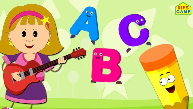 ABC Song - Elly Playing Guitar
