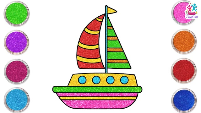 How To Draw A Sail Boat