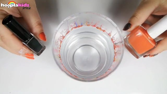 Water Marble Pumkin Nails