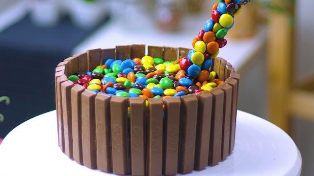 Anti Gravity M&M Cake