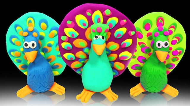 How To Make A Play doh Peacock