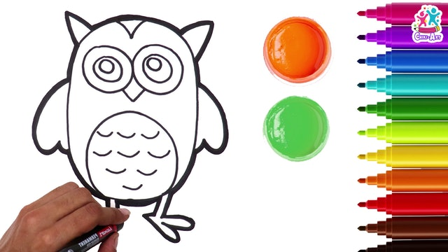 Chiki Art - How To Draw an Owl