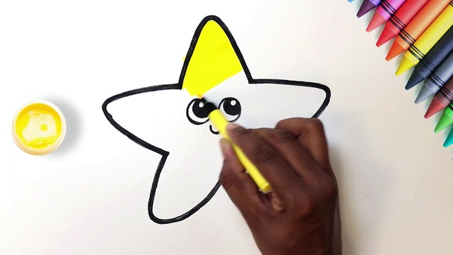 How to Draw & Color A Star