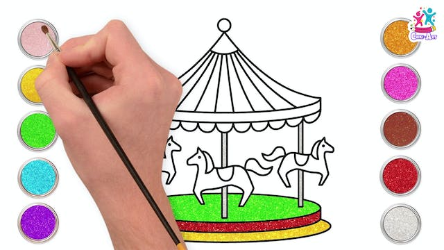 How To Draw A Carousel