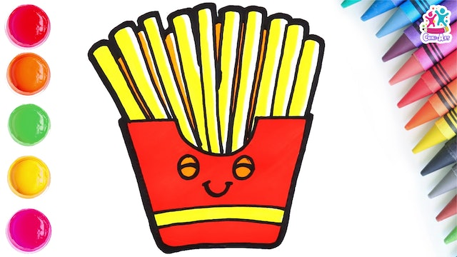 How To Draw A French Fries
