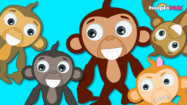 HooplaKidz - Five Little monkeys
