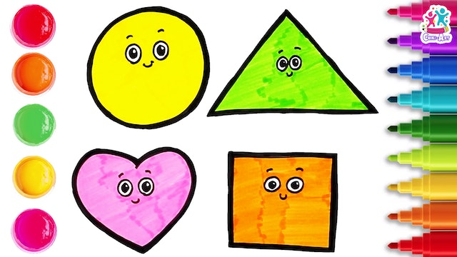 Chiki Art -  How to Draw Different Shapes