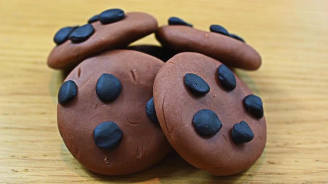Play Dough Chocolate Chip Cookies