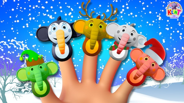 Kent The Elephant - Learn Colors With Chrismas Finger Family