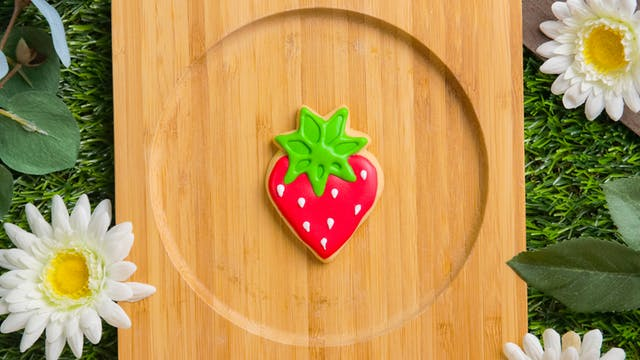 Fruity Royal Icing Cookie
