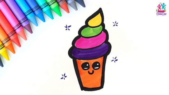Chiki Art - How to Draw an Ice-cream
