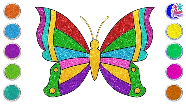 How To Draw A Glitter Butterfly