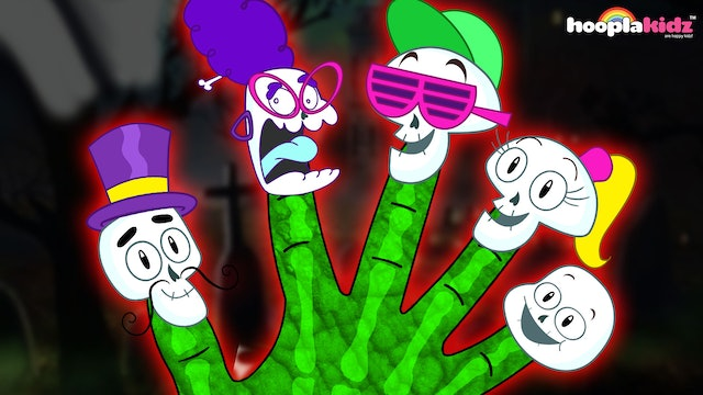 HooplaKidz - The Skeleton Finger Family